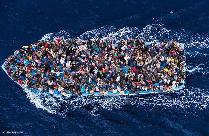 Hauptursache von Flüchtlingsströmen Krieg Irak Syrien Afghanistan und der Kosovo